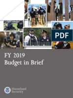 DHS 2019 Budget in Brief