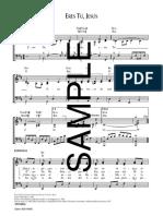 ERES TÚ, JESÚS (Piano y Melodía)