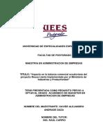 Impacto en la balanza comercial ecuatoriana del proyecto Reusa Llanta implementado por el Ministerio de Industrias y Productividad