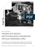 Travesía Site Specific/ Olga Fernádez
