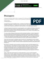 Desespero - Opinião - Estadão