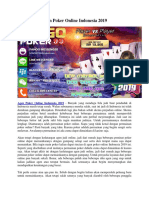 Agen Poker Online Indonesia 2019