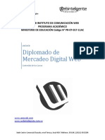 Diplomado de Mercadeo Digital Web