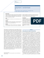 Supported Employment Randomised Controlled Trial
