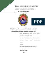 Modelo CAF Como Herramienta en La Gestión de Calidad de La Municipalidad Distrital de Yanahuara, Arequipa, 2017