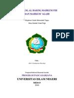 Vandha - Makalah (Ralat) - Al Hukm, Al Hakim, Mahkum Bih, & Mahkum Alaih