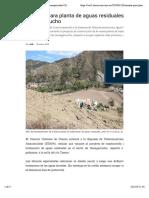 Variante para plantade aguas residuales de Huangarcucho | Diario El Mercurio