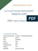 PROGRAMACION ANUAL DE LA I.E.N° 10199  MANO DE LEON 2017.docx