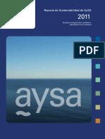 Reporte de Sustentabilidad AySA 2011