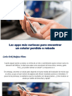 Carlos Erik Malpica Flores - Las apps más curiosas para encontrar un celular perdido o robado
