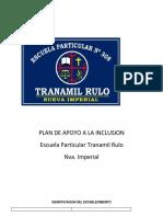 Plan de Apoyo a La Inclusion Actualizado 2019