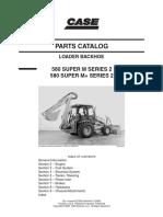 CASE 580 Super M+ Series 2 Backhoe Loader Parts Catalogue Manual.pdf
