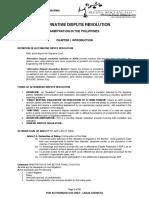 ADR Resci Notes 2012