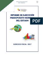 Informe ejecución presupuestaria 2017