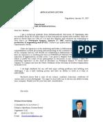 Surat lamaran & CV Inggris.doc