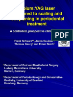 ErYAG Laser Compared to Scaling and Root Planing in Periodontal TX