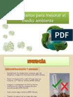 Comentarios Para Mejorar El Medio Ambiente