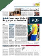 La Provincia Di Cremona 11-01-2019 - Serie B