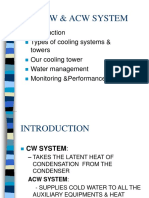 Acw and Cw Cooling Water System