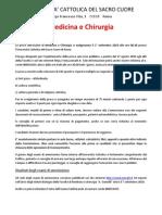 Import Ante CATTOLICA Courses Vademecum Esami Di Medicina e Chirurgia