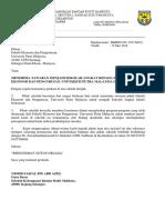 Surat Alat Pemadam API Sekolah Bukit Mahkota