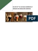 Determinación de Cu en Cerveza Por EAA