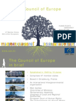 Power point presentation of the Council of Europe