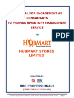 Hubmart Proposal on Inventory Mgt. Service