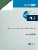 3095 La Corrupcion en El Sector de La Educacion
