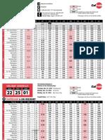 Weekday Northbound Printer-Friendly Schedule - Effective 10-1-17