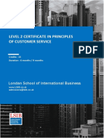 Level 2 Certificate in Principles of Customer Service