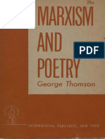 Marxism and Poetry- George Thomson