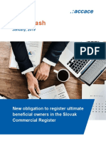 New obligation to register ultimate beneficial owners in the Slovak Commercial Register | News Flash