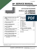 Sharp Lc32bd6x Lcd Tv Sm