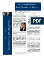 ENCUENTRO CON AUTORES. Documento Informativo. Juan Manuel de Prada