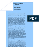 Structure Of Singing Pdf