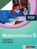 Matemática 6 Cuaderno de Trabajo Para Sexto Grado de Educación Primaria 2018
