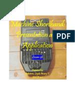 Machine Shorthand-Module 26