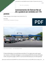 Sem vistoria, licenciamento do Detran-RJ vai custar R$ 202,55 e poderá ser emitido em 170 postos _ Rio de Janeiro _ G1