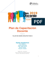 Plan de Capacitacion Docente ARQUITECTURA (Mejor)
