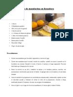 Budín de Mandarina en Licuadora