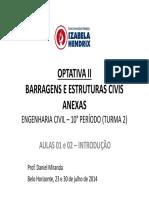 Barragens Civil T2 AULAS 01 e 02