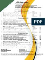 obedné menu  14. 01. -18. 01.2019