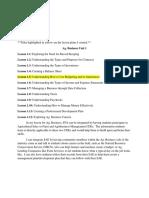 unit plan and ffa and sae integration - mariah klingler