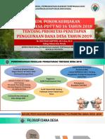 Pokok Kebijakan Prioritas Dana Desa Tahun 2019