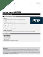Application for Admission Ugrad English
