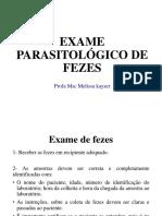 Exame Parasitológico de Fezes