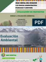 Proyectos. Unidad 4 Evaluación Ambiental