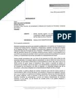 Carta de la Comisión de Pueblos a la Secretaría