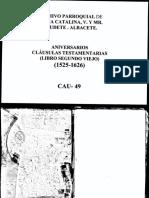Cláusulas Testamentarias 1525-1626